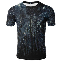 Load image into Gallery viewer, Men Round Neck Print Short Sleeve T-Shirt