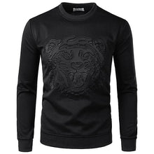 Load image into Gallery viewer, Men's Fashion Solid Color Tiger Embossing Sweatshirt