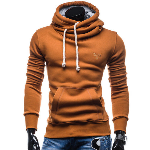 Solid Color High Collar Hoodie