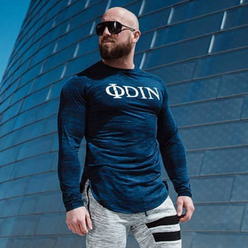 Men Sports Tight-Fitting Long-Sleeved T-Shirt