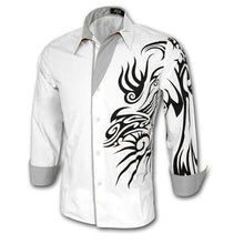 Load image into Gallery viewer, Men's Chinese Style Dragon Long Sleeve Shirts