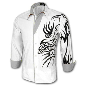 Men's Chinese Style Dragon Long Sleeve Shirts