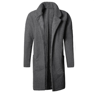 Plus Size Mid Length Double Side Wearable Thicken Fur Warm Wool Blend Coat