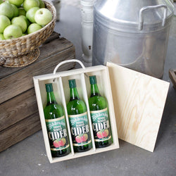 3 Bottle Wooden Box