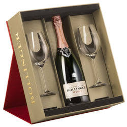 Bollinger Rose Gift Set with 2 Glasses NV 75cl
