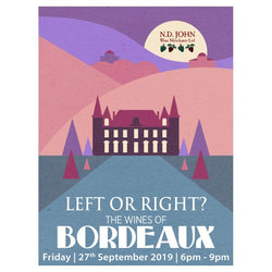 Left or Right? Wines of Bordeaux Tasting - 27th September 2019
