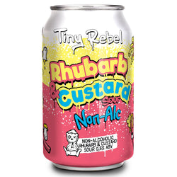 Tiny Rebel Rhubarb and Custard Non Alcoholic Sour 330ml