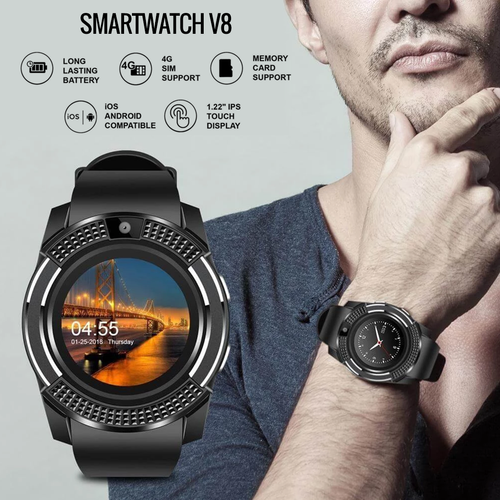 Smart watch V8 -Bluetooth - 4G