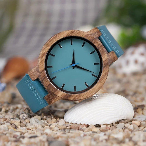 Marine Coral - Woodtree Watches Personalised Wooden Watch