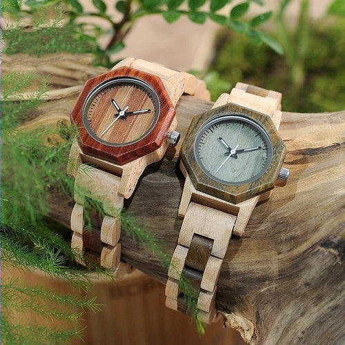 Nutmeg - Woodtree Watches Personalised Wooden Watch