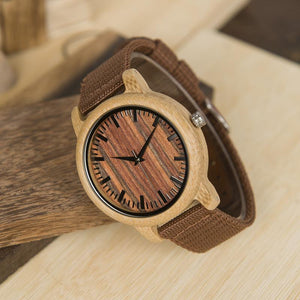 Cacao - Woodtree Watches Personalised Wooden Watch