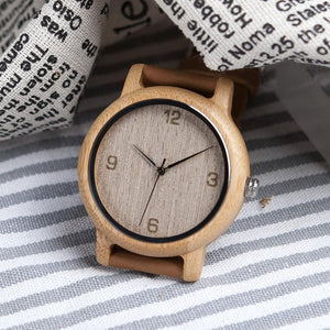 White Ash - Woodtree Watches Personalised Wooden Watch