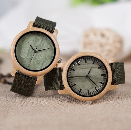 Olive - Woodtree Watches Personalised Wooden Watch