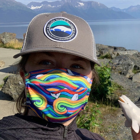 Rainbow Beluga Face Mask- Adult's and Kid's In Stock
