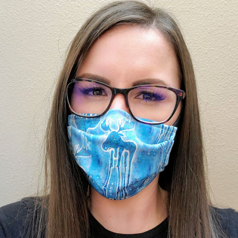 Blue Moose Face Mask-Adult's and Kid's in Stock