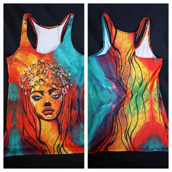 Starry Crown  Racerback Tank