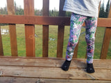Alaska Berries Pink Kids Leggings