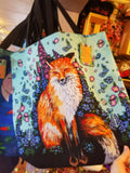 Fox and Flowers Market Bag