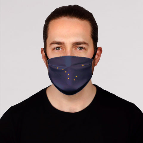 ALASKA FLAG Face Mask-Adult's In Stock