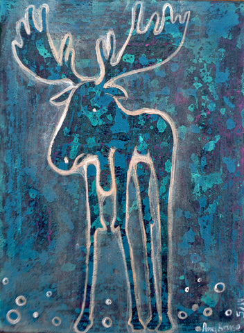 """Blue Moose"" Art Prints"