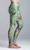 Rooster and Wild Flowers Yoga Leggings