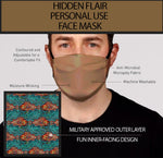 Hidden Flair Coyote and Glactic Rockfish Face Mask- Adult's In Stock