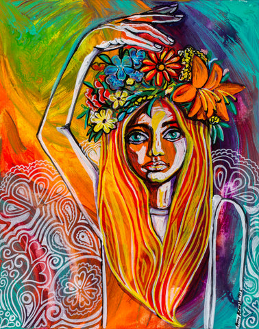"""Flower Child"" Art Prints"