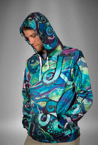 Galactic Octopus Tech Fleece Hoodie