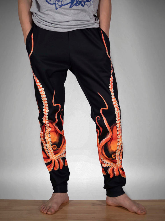 Giant Octopus Fleece Joggers