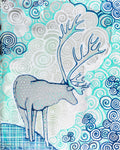 """Metallic Caribou "" Art Prints"