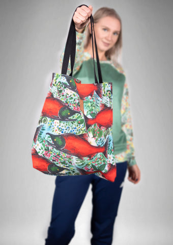 Salmon Berry Market Bag
