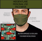 Hidden Flair Olive and Salmon Berry Face Mask- Adult's In Stock