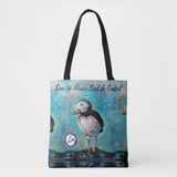 Save the Center Puffin Love Market Bag