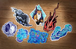 Large/Medium Vinyl Sticker Bundle