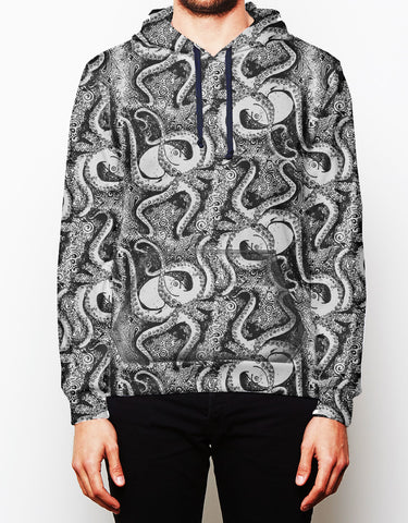 Black and White Octopus Hoodie
