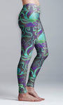 Blue and Purple Octopus Yoga Leggings