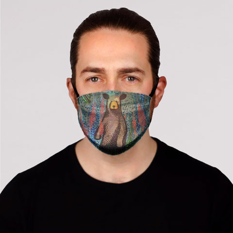 Blueberry Bear Face Mask- Adult's In Stock
