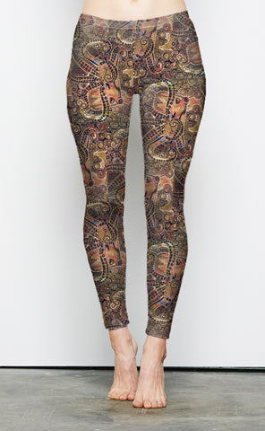 "Copper Octopus Lounge Leggings ""Clearance"""