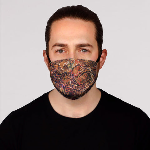 Copper Octopus Face Mask-  Adult's  In Stock