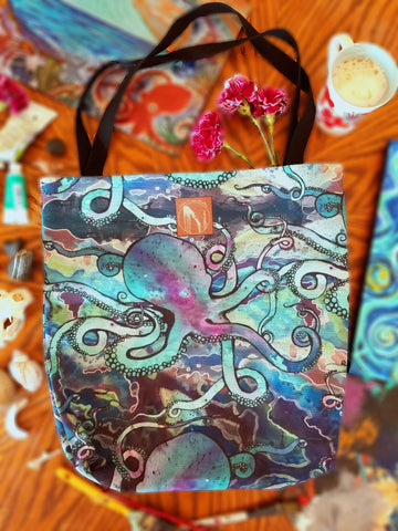 Galactic Octopus Market Bag