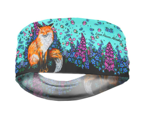 Fox and Wild Flowers Lightweight Headband