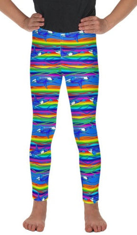 Rainbow Orca Kid's Lounge Leggings