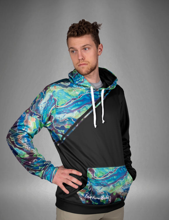 Galaxy Black Tech Fleece Hoodie