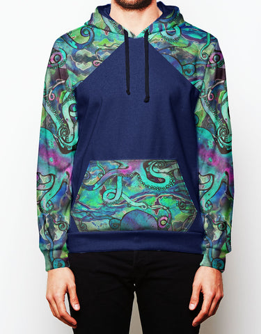 Galactic Octo Color Block Tech Fleece Hoodie