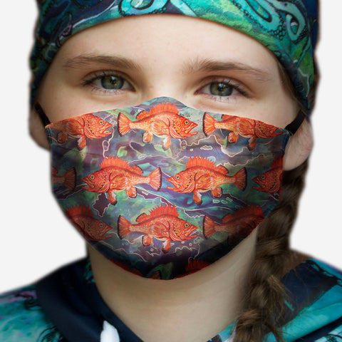 Galactic Rockfish Face Mask- Adult's and Kid's In Stock