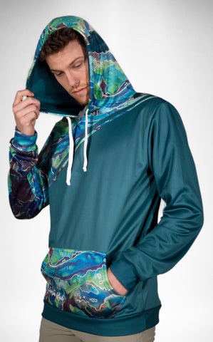 Galaxy Green Tech Fleece Hoodie