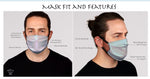 Blissful Beluga Face Mask- Adult's  In Stock