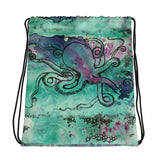 Turquoise  Octopus Boat Bag
