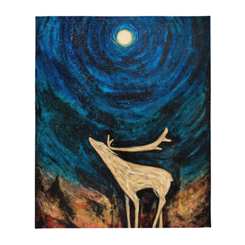 Caribou Moon Plush Blanket
