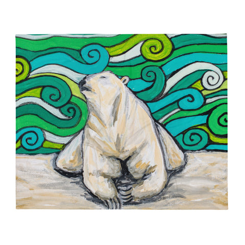 Polar Bear Pin Up Plush Blanket